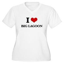 I Love Big Lagoon Plus Size T-Shirt