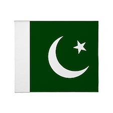 Pakistani flag Throw Blanket