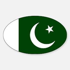 Pakistani flag Sticker (Oval)