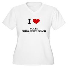 I Love Bolsa Chica State Beach Plus Size T-Shirt