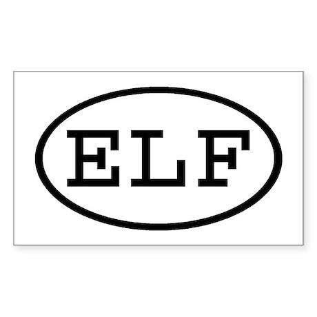 ELF Oval Rectangle Sticker