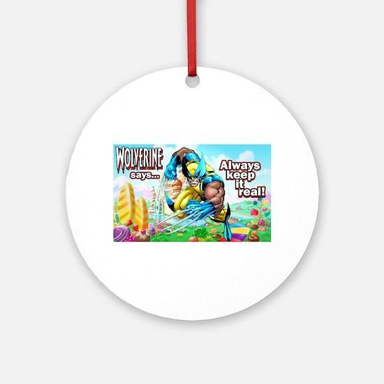 Wolverine In Candyland 001 Ornament (Round)