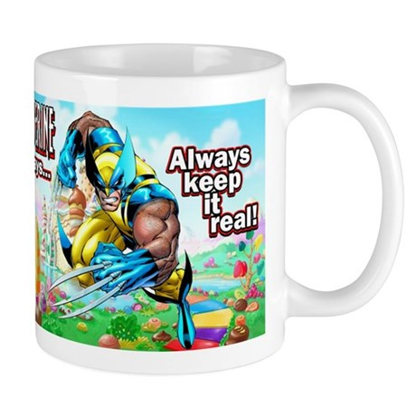 Wolverine In Candyland 001 Mugs
