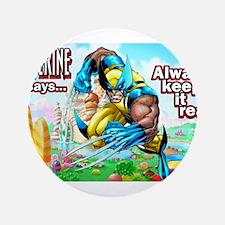 "Wolverine In Candyland 001 3.5"" Button"