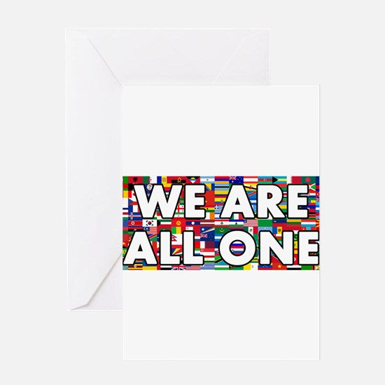 We Are All One 001 Greeting Cards