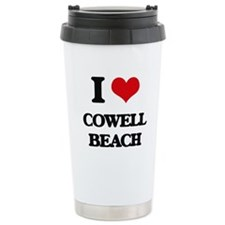 I Love Cowell Beach Travel Mug