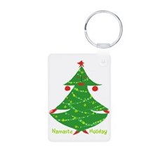 Namaste Holiday Keychains