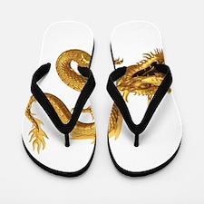 Golden Dragon Flip Flops
