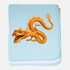 Golden Dragon baby blanket
