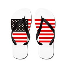 4th of July Old Glory Story American Fl Flip Flops