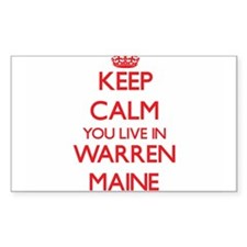 Keep calm you live in Warren Maine Decal