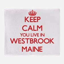 Keep calm you live in Westbrook Main Throw Blanket