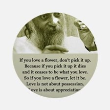 Osho 001 Ornament (Round)