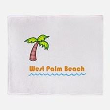 West Palm Beach Throw Blanket