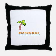 West Palm Beach Throw Pillow