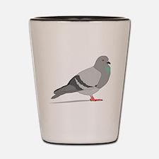 Cartoon Pigeon Shot Glass