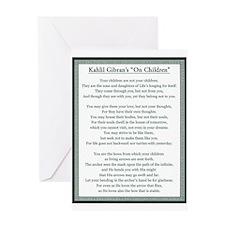 Kahlil Gibran 002 Greeting Cards