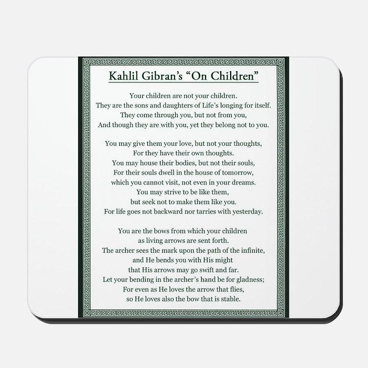 Kahlil Gibran 002 Mousepad