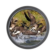 Brant Geese 2 Wall Clock