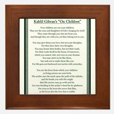 Kahlil Gibran 002 Framed Tile