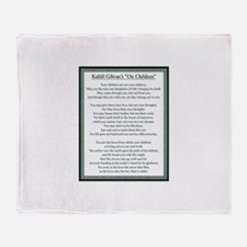 Kahlil Gibran 002 Throw Blanket