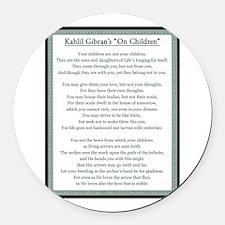 Kahlil Gibran 002 Round Car Magnet