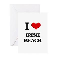 I Love Irish Beach Greeting Cards