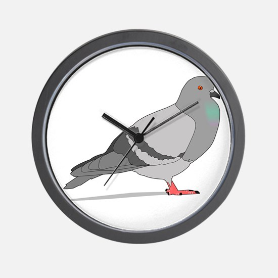 Cartoon Pigeon Wall Clock