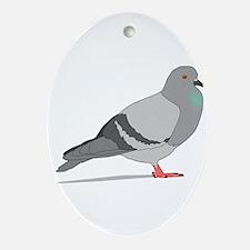 Cartoon Pigeon Ornament (Oval)