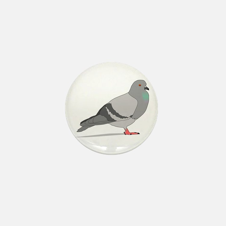 Cartoon Pigeon Mini Button