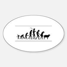 Cute Sheeple Sticker (Oval)