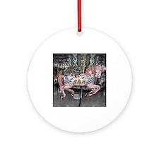 Pretty carousel horse Ornament (Round)