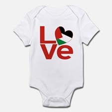 Red Palestinian LOVE Body Suit