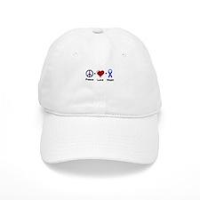 Peace, Love, and Hope Baseball Baseball Cap
