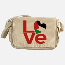 Red Palestinian LOVE Messenger Bag