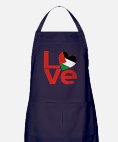 Red Palestinian LOVE Apron (dark)