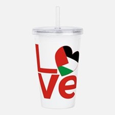 Red Palestinian LOVE Acrylic Double-wall Tumbler