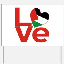 Red Palestinian LOVE Yard Sign