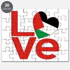 Red Palestinian LOVE Puzzle