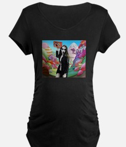 Goth Girl In Candyland 001 Maternity T-Shirt