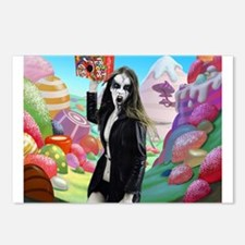 Goth Girl In Candyland 00 Postcards (Package of 8)