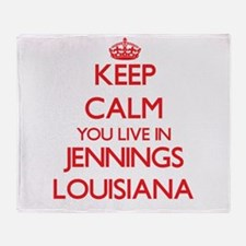 Keep calm you live in Jennings Louis Throw Blanket