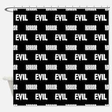 Evil Horror Shower Curtain