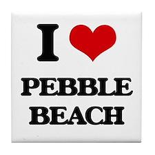 I Love Pebble Beach Tile Coaster