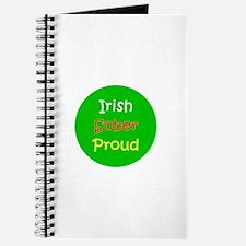 Irish Sober Proud Green St. Patricks Day Journal