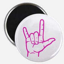 "Fuchsia I Love You 2.25"" Magnet (10 pack)"