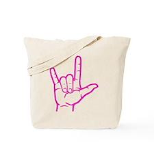 Fuchsia I Love You Tote Bag
