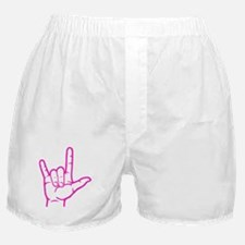 Fuchsia I Love You Boxer Shorts