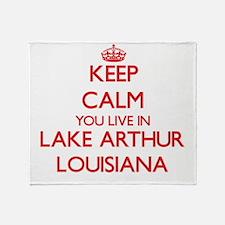 Keep calm you live in Lake Arthur Lo Throw Blanket