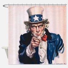 Uncle Sam I Want You Shower Curtain